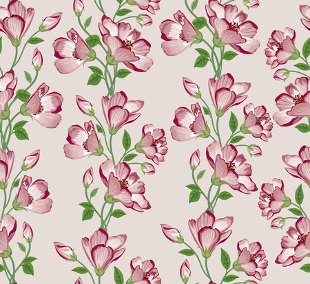 flower background: Floral seamless pattern. Flower background. Floral seamless texture with flowers.