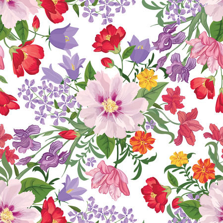 royal background: Floral seamless pattern Flower background. Floral seamless texture with flowers. Flourish tiled wallpaper