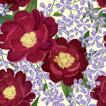 eleganz: Floral seamless pattern. Flower background. Floral nahtlose Textur mit Blumen.