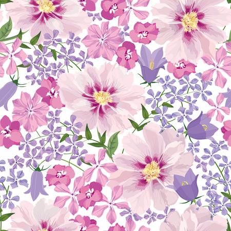 Bloemen naadloos patroon. Bloem achtergrond. Bloemen naadloze textuur met bloemen. Stockfoto - 46073545