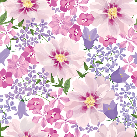 Floral seamless pattern. Flower background. Floral seamless texture with flowers. 免版税图像 - 46073545