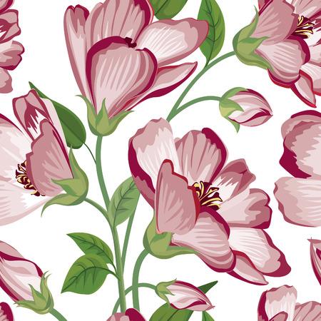 Modelo inconsútil floral. Fondo de la flor. Textura inconsútil floral con flores. Ilustración de vector