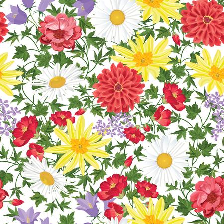 floral: Floral seamless pattern Flower background. Floral nahtlose Textur mit Blumen. Flourish Fliesentapete