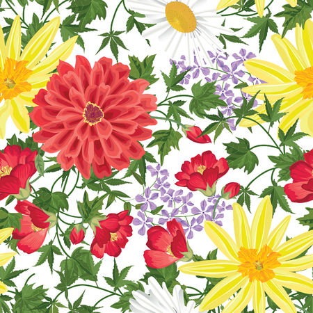 wallpaper floral: Floral seamless pattern Flower background. Floral seamless texture with flowers. Flourish tiled wallpaper