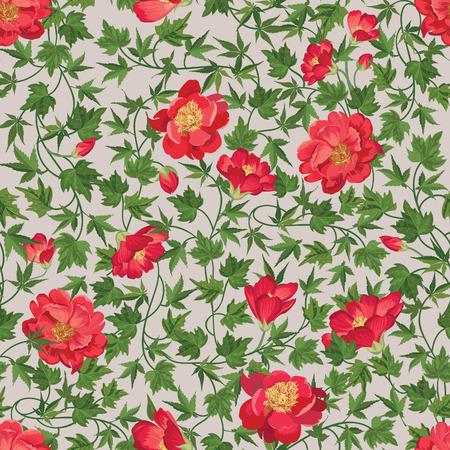 floral background: Floral seamless pattern. Flower background. Floral seamless texture with flowers Flourish tiled wallpaper
