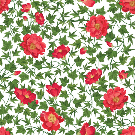 floral pattern: Floral seamless pattern. Flower background. Floral seamless texture with flowers Flourish tiled wallpaper