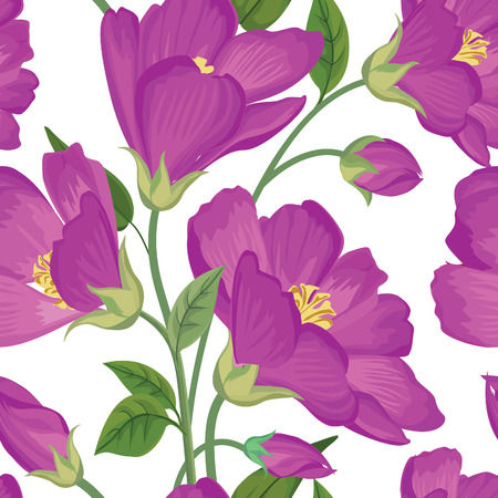 poppies: Floral seamless pattern. Flower background. Floral seamless texture with flowers. Flourish tiled wallpaper
