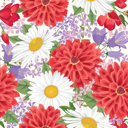 floral background: Floral seamless pattern Flower background. Floral seamless texture with flowers. Flourish tiled wallpaper