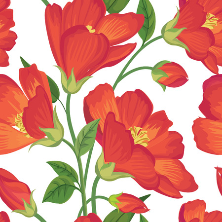 floral: Floral seamless pattern Flower background. Floral seamless texture with flowers. Flourish tiled wallpaper