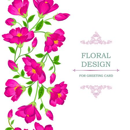 floral border: Floral seamless pattern. Flower background. Floral tile spring texture with flowers Ornamental flourish garden cover border for card design