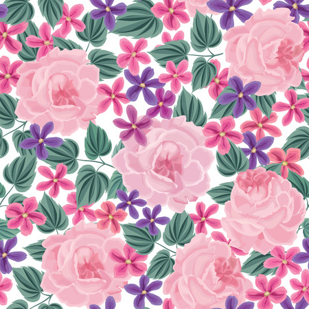 floral: Floral seamless pattern. Flower background. Floral tile spring texture with flowers.Spring flourish garden