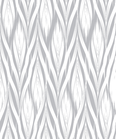 swill: Abstract floral seamless pattern with black and white line ornament Swirl geometric doodle texture. Ornamental wave optical effect background. Illustration