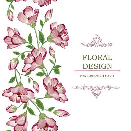 Bloemen naadloos patroon. Bloem achtergrond. Bloemen tegel spring textuur met bloemen Sier bloei tuin dekking grens voor kaart ontwerp