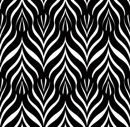 modular rhythm: Floral line black seamless pattern. Geometric classical antique ornament. Ornamental stylish background. Abstract stripe tile texture