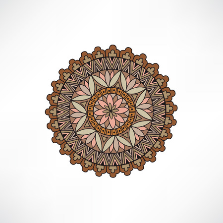 wall design: Abstract floral decorative element. Geometric ornament. Oriental ethnic mandala with Islam, Arabic, Indian, ottoman motif.