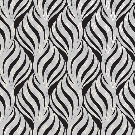 lily flower: Abstract floral seamless pattern. Geometric line black ornament. Ornamental stylish background. Abstract stripe tile texture