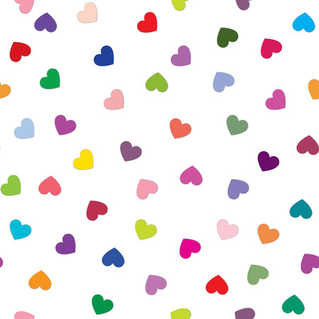 paper heart: Love heart tiling background. Romantic seamless pattern with hearts. Great for Valentines Day, Mothers Day, baby announcement, Easter, wedding, scrapbook, gift wrapping paper, textiles. Illustration