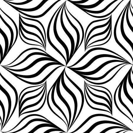 Vettore Abstact seamless. Floral linea struttura turbinio geometrica. Elegante sfondo astratto ornamentali Archivio Fotografico - 50576026