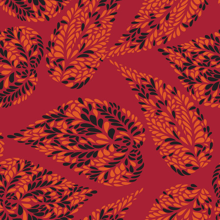 Abstact vector seamless pattern. Floral ornamentlal leaves texture. Stylish abstract background