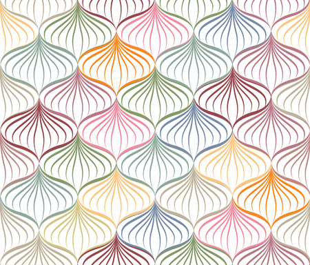 Abstact vector seamless pattern  Floral oriental geometric line texture  Stylish abstract ornamental background Illustration