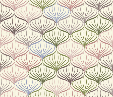seamless floral pattern: Abstact vector seamless pattern  Floral oriental geometric line texture  Stylish abstract ornamental background Illustration