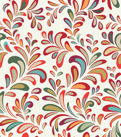 Abstact vector seamless pattern. Floral line swirl geometric texture. Stylish abstract ornamental background