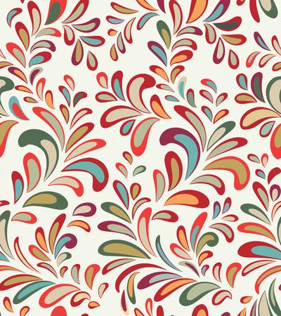 vecteur Abstact seamless. Floral swirl ligne de texture géométrique. Élégant fond ornemental abstrait
