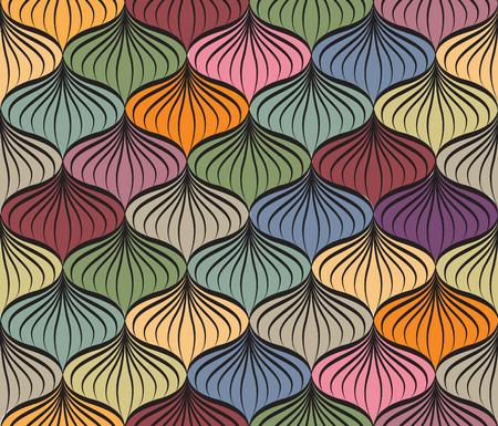 vettore Abstact seamless. Floral linea struttura turbinio geometrica. Elegante sfondo astratto ornamentali