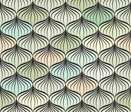 eleganz: Abstact Vektor nahtlose Muster. Floral Linie wirbeln geometrische Textur. Stilvolle abstrakte ornamentalen Hintergrund