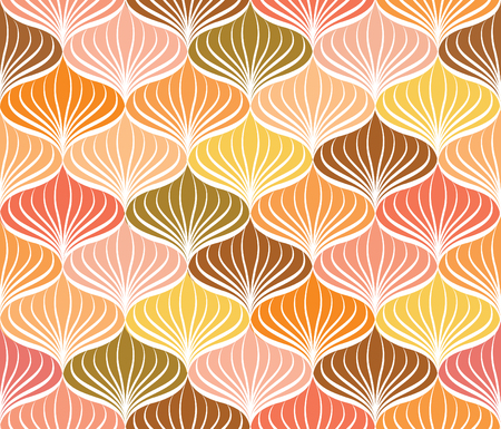 normal: Abstact vector seamless pattern  Floral oriental geometric line texture  Stylish abstract ornamental background Illustration
