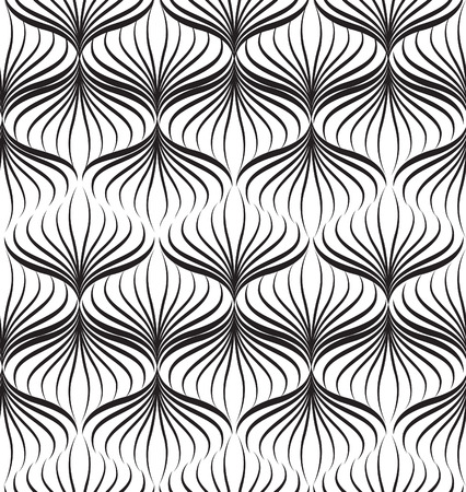 abstact: Abstact vector seamless pattern. Floral line swirl geometric texture. Stylish abstract ornamental background