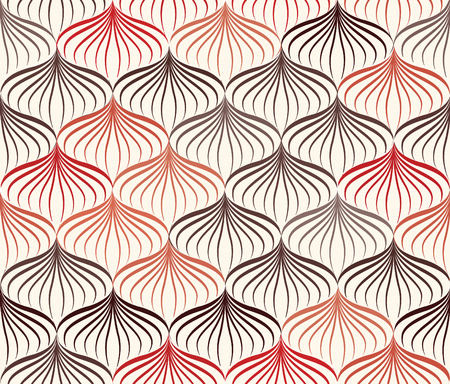 seamless floral pattern: Abstact vector seamless pattern. Floral line swirl geometric texture. Stylish abstract ornamental background