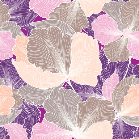 Modelo inconsútil floral abstracto. Geométrico línea de la raya textura de la flor. fondo de mosaico floral elegante ornamental. Ilustración de vector