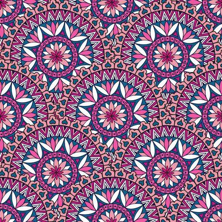 motif floral: Abstract seamless pattern floral. Géométrique texture ornement. Oriental origine ethnique ligne de mandala.