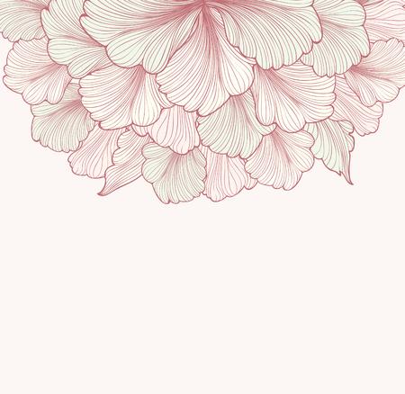 Floral tle z kwiatem. Element projektu. Ilustracji wektorowych.
