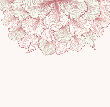 Floral background with flower. Element for design. Vector illustration.