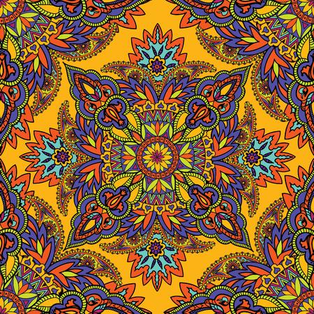 background kaleidoscope: Abstract floral geometric pattern Arabic ornament seamless background Oriental ethnic mandala element for holiday, kaleidoscope, medallion, yoga, indian, arabic design