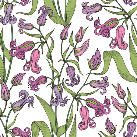 ornamental garden: Floral seamless pattern. Flower background. Floral tile ornamental texture with flowers. Spring flourish garden Illustration
