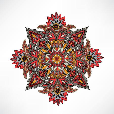 sacramental: Arabic ornament background Oriental ethnic mandala amulet Abstract floral geometric pattern Geometric circle element for holiday, kaleidoscope, medallion, yoga, indian, arabic design Illustration