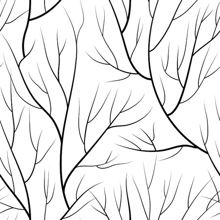 abstract wallpaper: Floral seamless pattern. Branch without leaves tiled background. Winter trees vector illustration Illustration