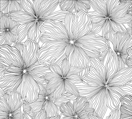 Floral seamless background. Vector pattern with beautiful peony flower. Gentle flourish background. Seamless patterns can be used in textile design, postcards, calendars, websites, wallpapers