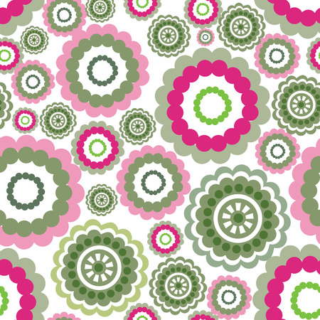 coloured background: Abstract geometric pattern Coloured floral ornamental seamless background Illustration