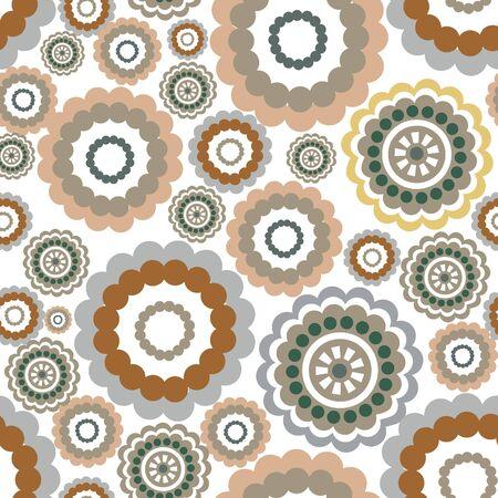motif floral: Abstract floral motif géométrique Fleur ornement fond transparent Illustration