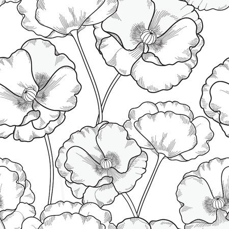 ornamental garden: Floral seamless pattern. Flower background. Floral tile ornamental texture with flowers. Spring flourish garden Illustration