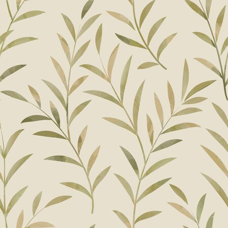 fall leaf: Floral seamless pattern. Leaves background. Nature ornamental texture with plant leaf. Illustration