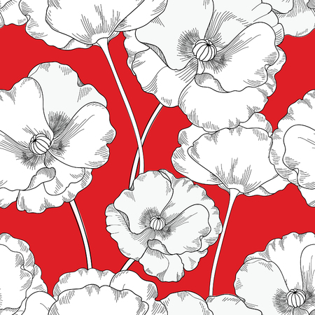 Seamless floral. Fleur de fond. Floral tile texture ornementale avec des fleurs. Spring garden fanfare