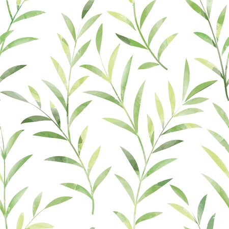 plant nature: Floral seamless pattern. Leaves background. Nature ornamental texture with plant leaf. Illustration