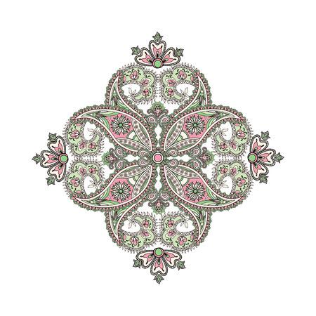 background kaleidoscope: Arabic ornament background Oriental ethnic mandala amulet Abstract floral geometric pattern Geometric circle element for holiday, kaleidoscope, medallion, yoga, indian, arabic design Illustration