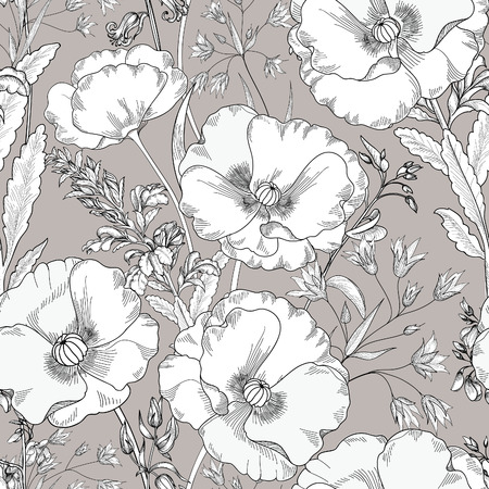 Floral seamless pattern. Flower background. Floral seamless texture with flowers. Flourish tiled wallpaper Stock Vector - 54853509