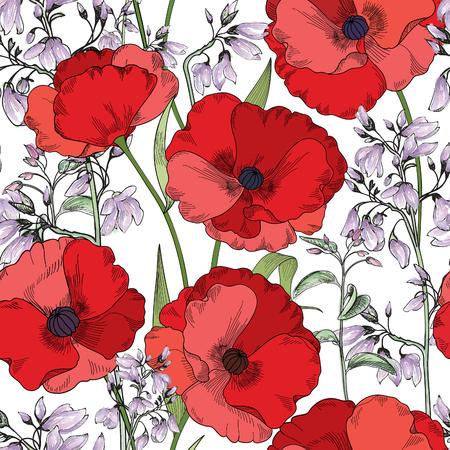 eleganz: Floral seamless pattern. Flower background. Floral nahtlose Textur mit Blumen. Flourish Fliesentapete